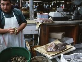 Dia 02-20039 Fischmarkt Alghero 1990